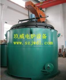 井式球化炉的特点是装载量大,设计装载4-32T不等,常规配套为加热炉体、炉胆、匀热风机、冷却风机、导流桶、导风座及PID+SCR控制柜等,一般辅助设备配套制氮机,对于中碳钢、高碳钢等易脱碳的产品,另配套甲醇裂解炉,进行渗碳作用; 从06年开始研制球化炉,不断创新,目前无论对技术制造上还是满足工艺需求上,都是有丰富的经验,客户对此款炉型厚爱有加,提供了优质的产品,带来了实惠。